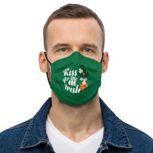 Kiss Me I'm Irish Premium face mask