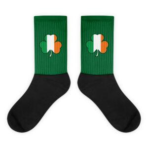 Ireland Cloverleaf Flag Socks