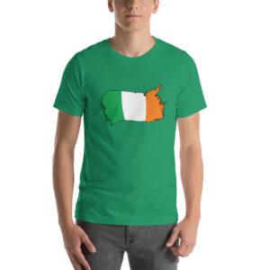 Ireland Flag Short-Sleeve Unisex T-Shirt