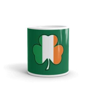 Ireland Cloverleaf Flag White Glossy Mug