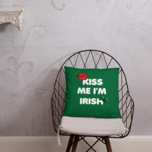 Kiss Me I'm Irish Basic Pillow