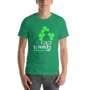 Four-Leaf Clover Irish Luck Short-Sleeve Unisex T-Shirt
