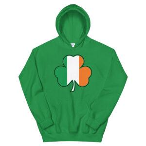Ireland Cloverleaf Flag Unisex Hoodie